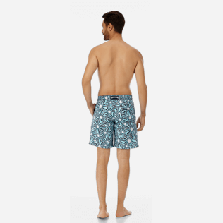 Men Long classic Printed - Men Long swimtrunks Oursinade, Navy backworn