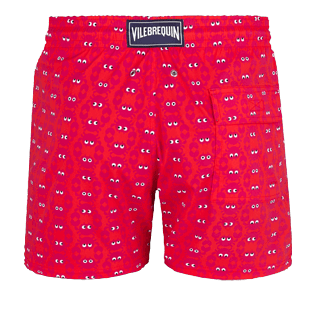 Men Stretch classic Printed - Men Swimwear Stretch Crabs, Medicis red back