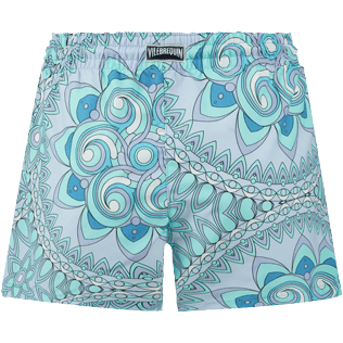 Women Others Printed - Women Swim Short Mandala, Lagoon back