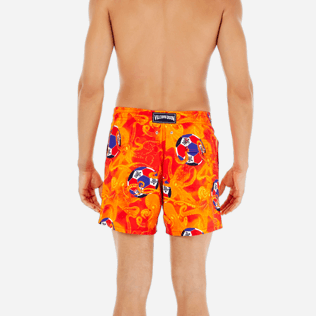 Men Classic Printed - Men Swimtrunks Octo Soccer, Poppy red supp2