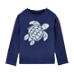 Others Printed - Unisex Kids Long Sleeves Rashguards Solid, Navy front