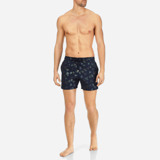 Men Stretch classic Printed - Men Stretch Swimwear Mordoré, Navy frontworn