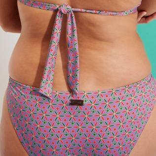 Women Halter Printed - Women Halter Bikini Top Indian Ceramic, Pink berries supp2