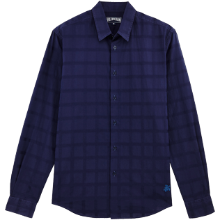 Others Graphic - Unisex Cotton Shirt Carreaux, Navy front