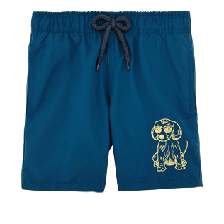 Boys Classic / Moorea Solid - SUNNY DOG EMBROIDERED SWIMWEAR, Spray front