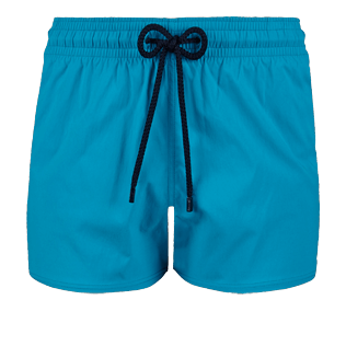 Men Short classic Solid - Men short and fitted stretch swimwear solid, Seychelles front