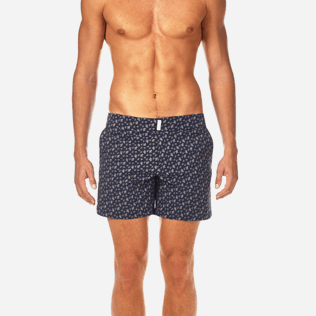 Men Fitted Printed - Micro Ronde des Tortues Superflex Fitted cut Swim shorts, Navy supp1
