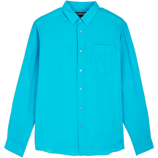 Men Others Solid - Men Linen Shirt Solid, Horizon front