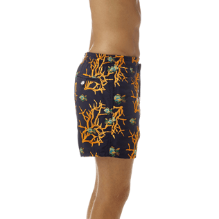 Men Classic / Moorea Embroidered - All Over Coral and Fish Embroidery Swimwear, Navy supp1