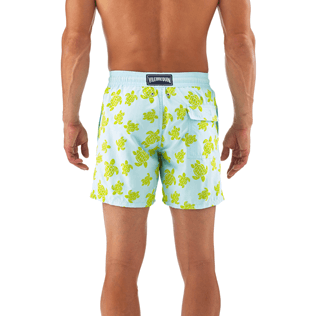 Men Classic / Moorea Printed - Flocked Turtle Print Swim Shorts, Frosted blue supp3
