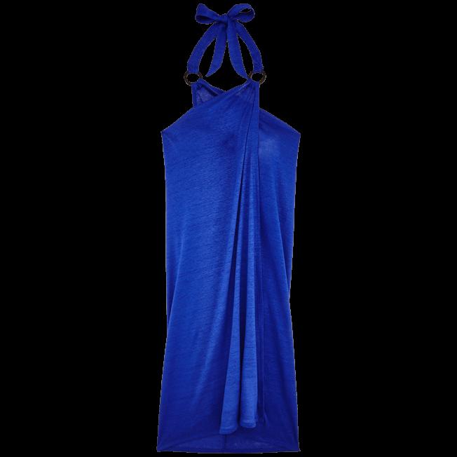 Vilebrequin - Robe paréo en Jersey de lin Femme Unie - 1
