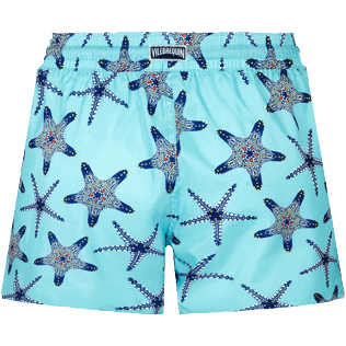 Women Others Printed - Women in light fabric Swim Short Starfish Dance, Lazulii blue back