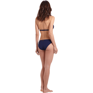 Donna Foulard Unita - Top bikini donna all'americana Ecailles de tortues, Midnight blue backworn