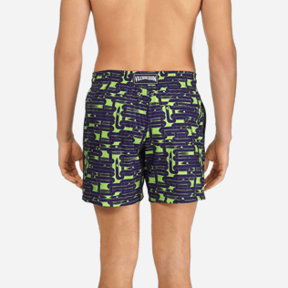 Men Classic / Moorea Printed - Men Lightweight and Packable Swimtrunks Eels Knitting, Wasabi supp2