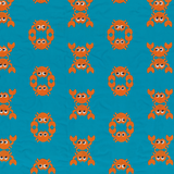 Men Classic Embroidered - Men Swim Trunks Embroidered Crabs - Limited Edition, Curacao pattern