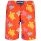 Men Long classic Printed - Men Swim Trunks Long Tortues Multicolores, Medlar back