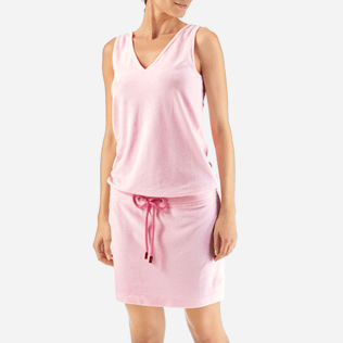 Women Dresses Solid - Solid Terry Tank dress, Peony supp1