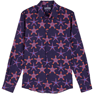 Others Printed - Unisex Cotton Voile Light Shirt Starfish Dance, Sapphire front