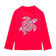 Others Printed - Unisex Kids Long Sleeves Rashguards Solid, Red polish front