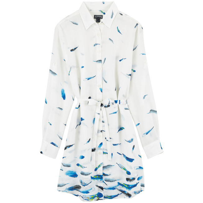 Vilebrequin - Robe chemise liquette longue Blue Breath - 1