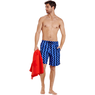 Men Long classic Printed - Men Swimtrunks Long Re Mi Fa Soles, Royal blue supp2