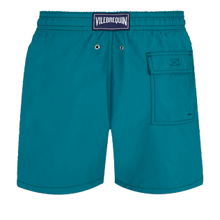 Men Classic Solid - Men Swim Trunks Solid, Pine wood back