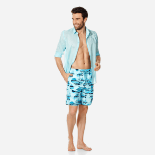 Homme CLASSIQUE LONG Imprimé - Maillot de Bain Homme Long Ocean Currents, Horizon supp2