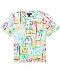 Boys Others Printed - Boys Cotton T-shirt Multicolore VBQ, White front