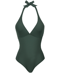 Women One piece Solid - Women shaping one piece swimsuit Solid, Pepper front