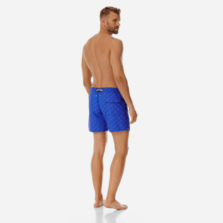 Men Classic Printed - Men swimtrunks Micro Ronde Des Tortues, Sea blue backworn