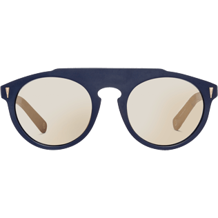Sunglasses Solid - Gold Mirror Sunglasses, Navy front