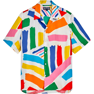 Men Others Graphic - Men short sleeves shirt Dazzle - Vilebrequin x JCC+ - Limited Edition, White front