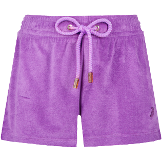 Women Others Uni - Women Terry Cloth Shorty Solid, Orchid front