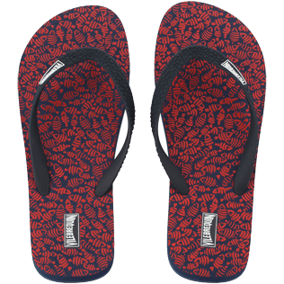 Men Others Printed - Men Flip Flop Mini Fish, Navy front