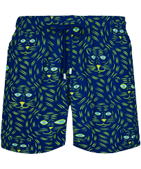 Men Classic Printed - Men Swimwear Bengale Tigers, Batik blue front