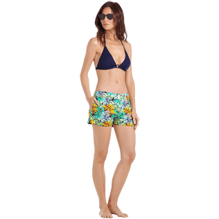 Women Others Printed - Women Swim Short Jungle, Midnight blue supp2