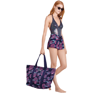 Women Others Printed - Women Swim Short Coral & Fish, Navy supp2