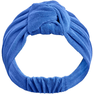 Women Others Solid - Women Headband in terry - Vilebrequin x JCC+ - Limited Edition, Sea blue front
