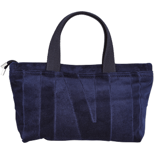 Others Solid - Beach Pouch in Terry Cloth Solid Jacquard, Navy front