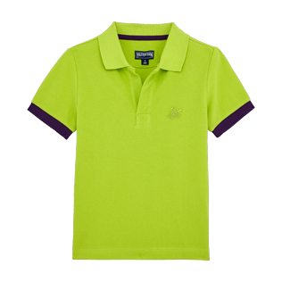 Boys Others Solid - Boys Cotton Pique Polo Shirt Solid, Cactus front