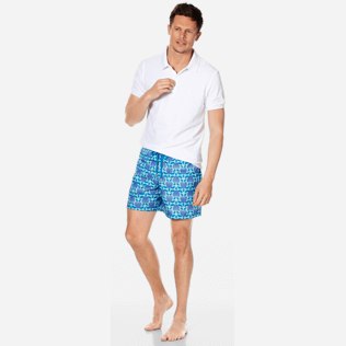Men Ultra-light classique Printed - Men Swimwear Ultra-Light and Packable Shellfish and Turtles, Acqua supp2