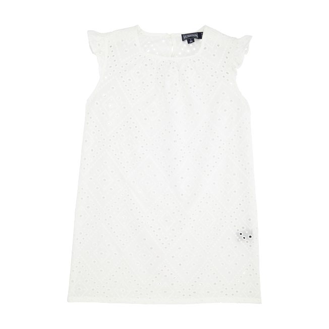 Vilebrequin - Robe Fille en Coton Broderies Anglaises - 1