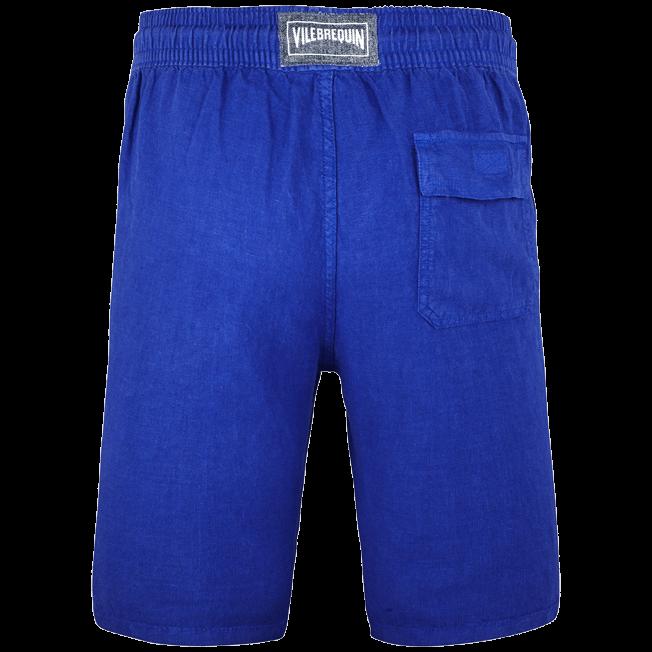 Vilebrequin - Bermudas cortas de lino con estampado liso y bolsillos italianos para hombre - 2