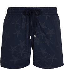 Men Stretch classic Magic - Men Stretch Swim Trunks Starfish Dance Diamond, Navy front