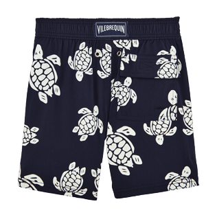 Boys Classic / Moorea Printed - Turtles Glow in the Dark Superflex Swim Shorts, Navy back