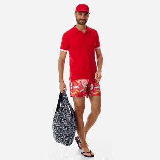 Men Classic Printed - Men Swimwear Ibiza, Hibiscus supp2