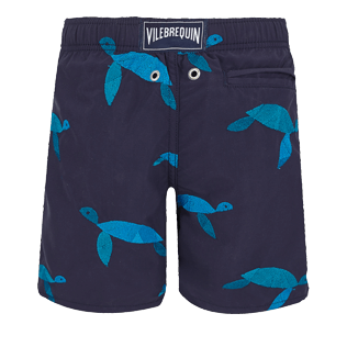Boys Others Embroidered - Boys Swimwear Embroidered Origami Turtles - Limited Edition, Midnight blue back