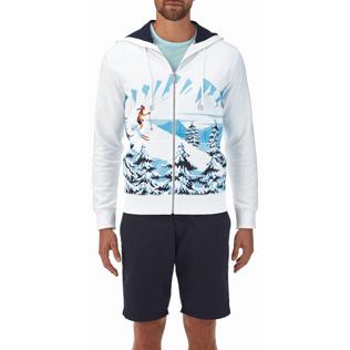 Men 008 Printed - Ski Resort Hoody fleece sweater, White supp2