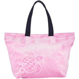 Accessories - Beach Pouch in Terry Cloth Solid Jacquard - BEACH BAG - BARMIN - Pink - OSFA - Vilebrequin Vilebrequin Y5inqg1Xw