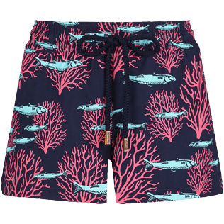 Women Others Printed - Women Swim Short Coral & Fish, Navy front